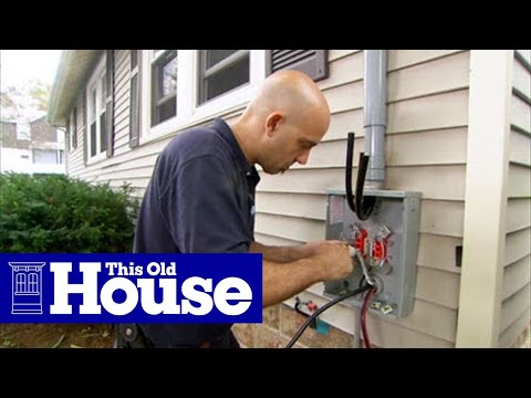 How to upgrade an electric meter to 200 amp service this old house how to upgrade an electric meter to 200 amp service this old house youtube greentooth Gallery