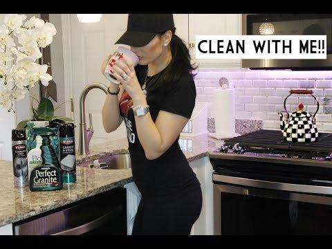 CLEAN WITH ME! || KITCHEN || LIVING ROOM || DINING ROOM