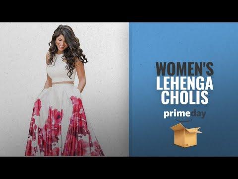WOMEN\'S LEHENGA CHOLIS Prime Day 2018: Nena Fashion Women\'s Silk Lehenga Choli (Red,Free Size,