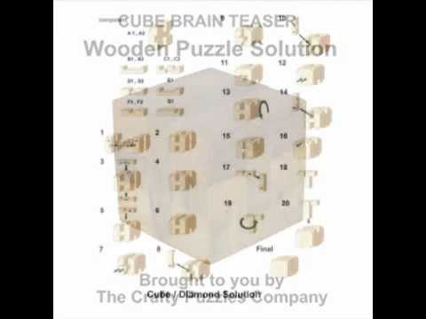 Cube Brain Teaser Puzzle Solution Youtube