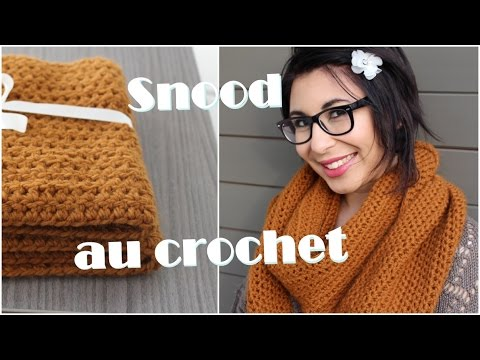 tuto facile snood au crochet doovi. Black Bedroom Furniture Sets. Home Design Ideas