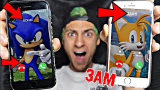 DO NOT CALL SONIC THE HEDGEHOG AND TAILS AT 3AM!! *OMG THEY ACTUALLY CAME TO MY HOUSE*