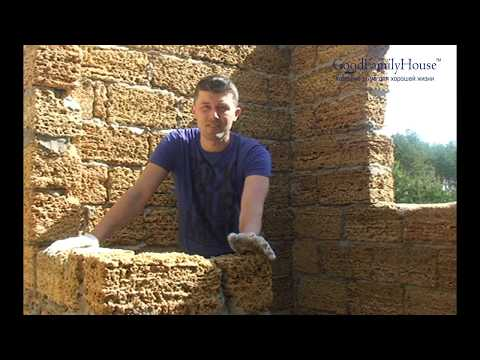 видео: Кладка стен и понивол (pony wall)