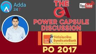 Syndicate PO 2017 GA Power Capsule Discussion