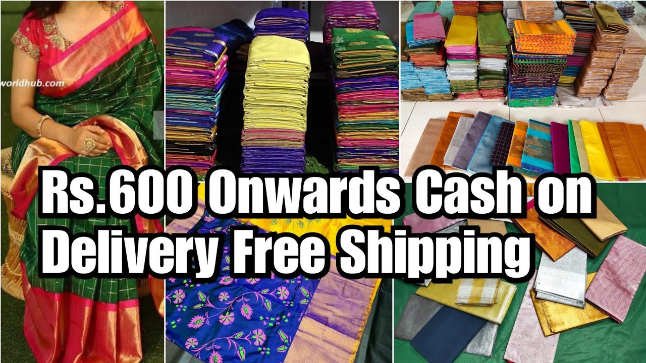 Cash On Delivery |Uppada Pattu Saree Rs.600 Onwards Free Shipping All over India |Direct Manufacture