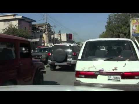 Driving the Streets of Port Au Prince, Haiti Sunday, January 29, 2012
