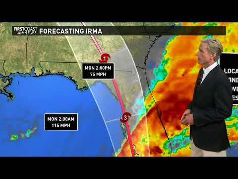 5 p.m. Irma track update