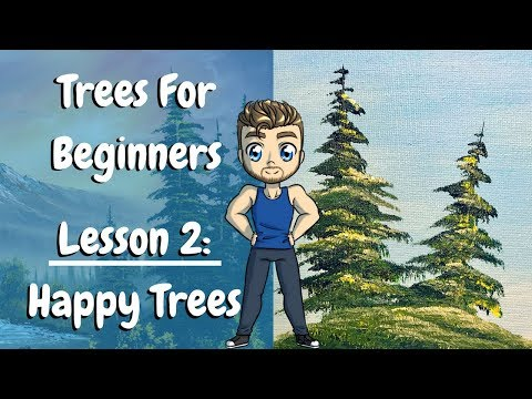 Painting Trees in Oil for Beginners – Pine Trees