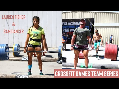 Sam Dancer and Lauren Fisher - 2017 CrossFit Games Team Series