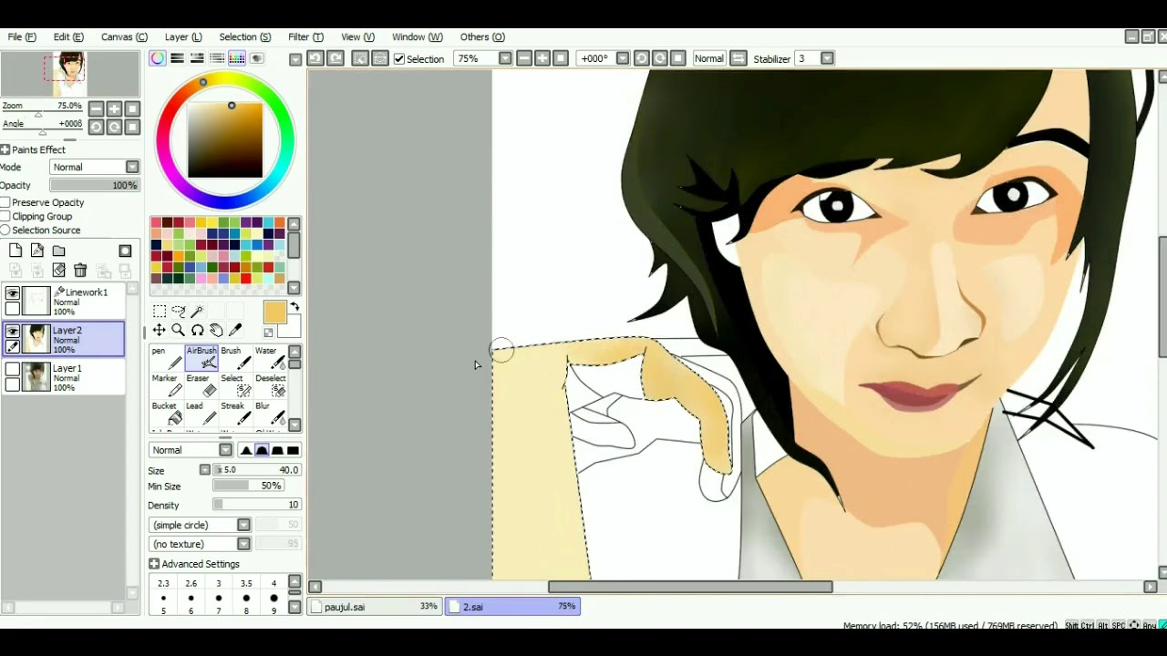 Tutorial membuat vektor kartun photoshop part 2 coloring and shading - Membuat Foto Menjadi Kartun Vexel Dengan Paint Tool Sai