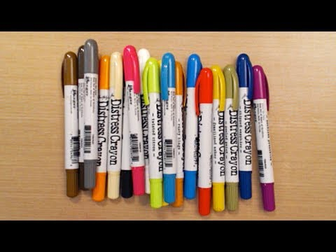Tim Holtz Distress Crayons - Review by Barb - HowToGetCreative.com