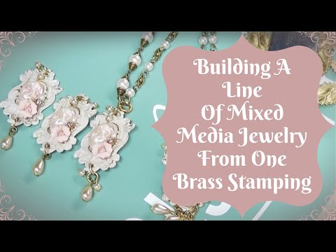 Jewelry Making: Building a Line of Mixed Media Jewelry from One Brass Stamping