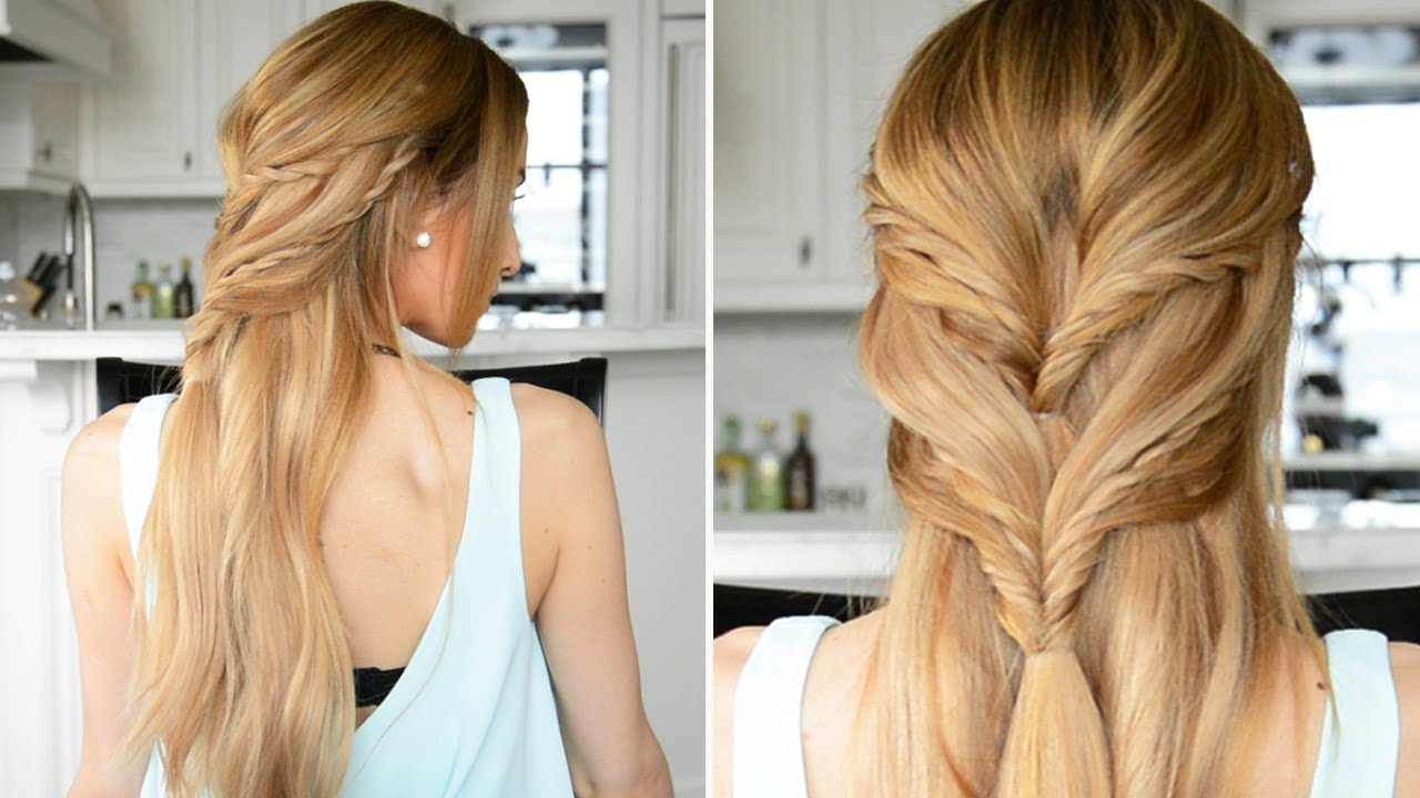 Rope Braided Half Up Half Down Hairstyle Fancy Hair
