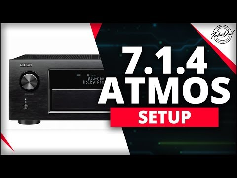 How To Setup 11 Channel Atmos (7.1.4) On The Denon AVR-X4400H