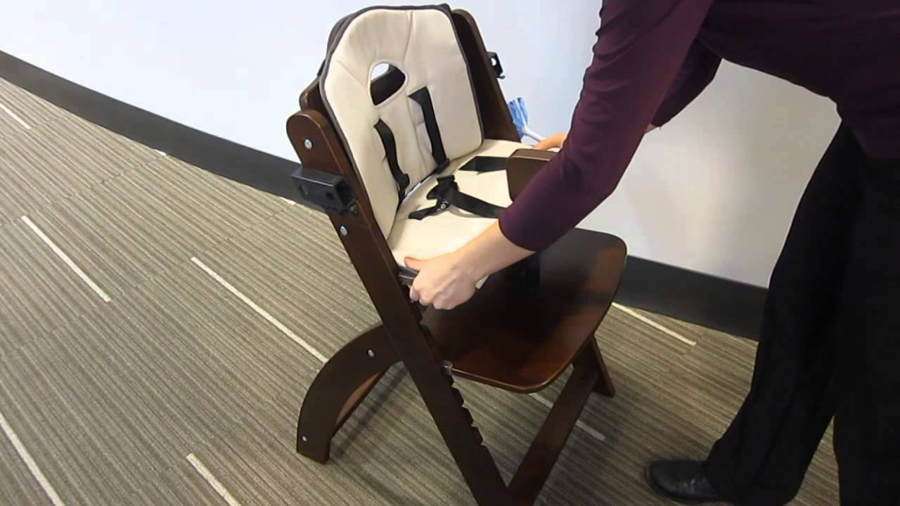 Beyond Junior Y Wooden Baby High Chair by Abiie - YouTube