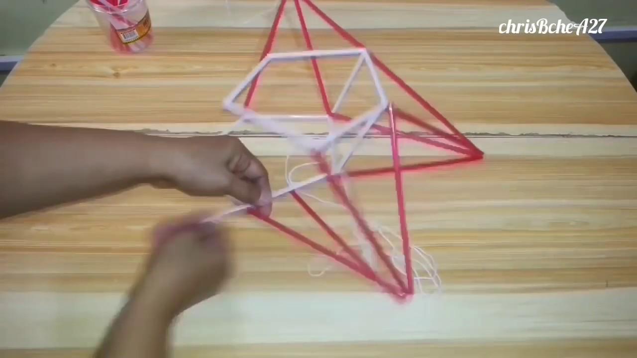 DIY# 73 Star/Xmas Lantern/Parol Made Of Drinking Straw #1 - YouTube for straw star lantern  303mzq