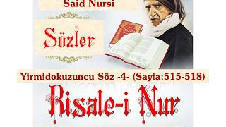 Risale-i Nur, Sözler, Yirmidokuzuncu Söz -4- , Bediüzzaman Said Nursi