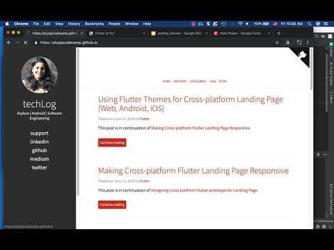 techLog – Using Flutter Themes for Cross-platform Landing