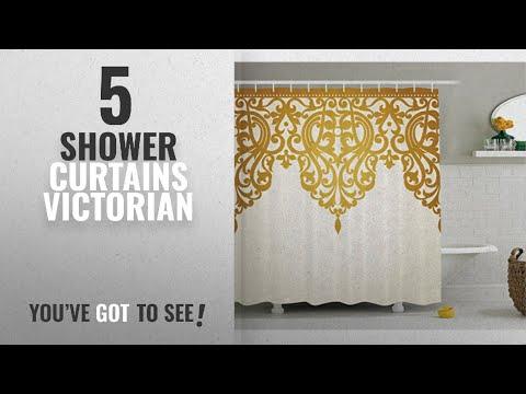 Top 10 Shower Curtains Victorian [2018]: Antique Decor Shower Curtain by Ambesonne, Victorian Style