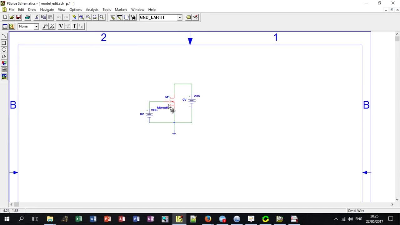 Pspice 9 1  - Editando Parametros Spice (Model Text Editor)