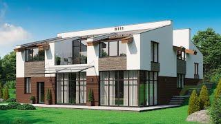 Проект дома в современном стиле. Дом с сауной, спа-зоной, террасой и балконом. Ремстройсервис М-360