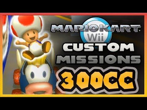 Mario Kart Wii - MISSION MODE 300cc Custom Tracks!