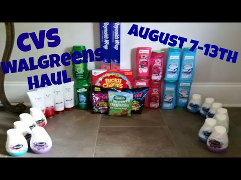 CVS/WALGREENS COUPON DEALS HAUL! 8/7-8/13