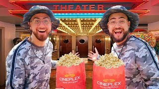 We Went To The Movies FOR FREE Disguised As The Same Person! (IT ACTUALLY WORKED)