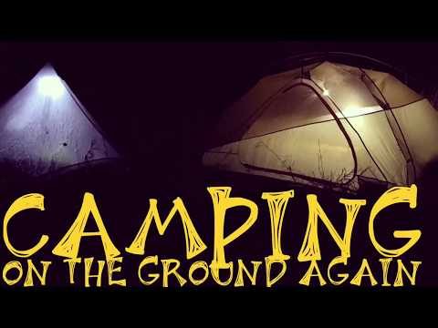 Camping on the ground again