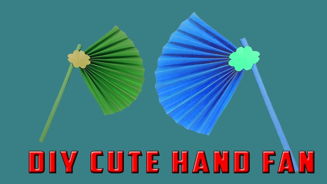 Diy Cute Hand Fan Paper Fan Making Easy Tutorial Hand Fan Paper