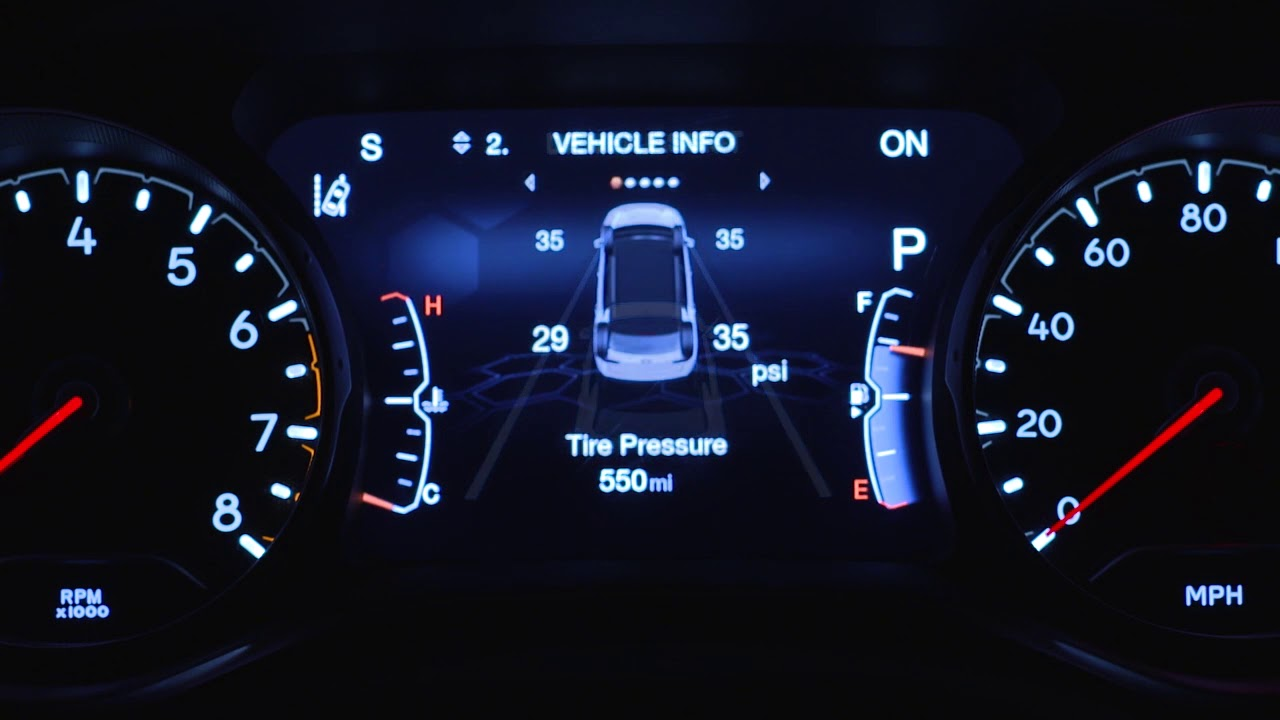 Instrument Cluster Display-The digital dashboard on the ...