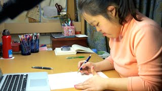【公式】国連スピーチの手紙を書く翔子