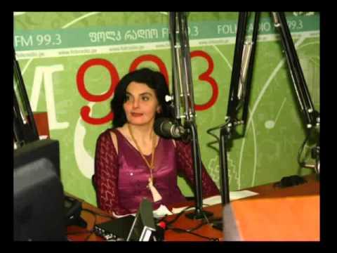 """GIORGI BUNDOVANI. 01.03.2013. """"FOLK-RADIO""""-LIVE! GEORGIA, TBILISI"""