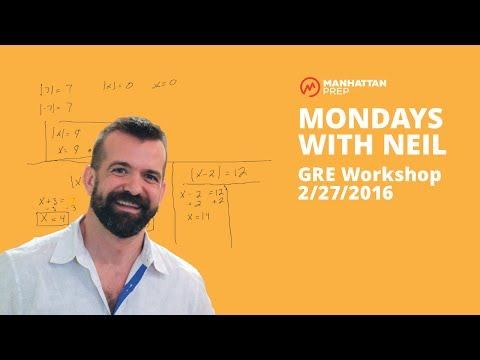 Mondays with Neil GRE Workshop - 2/27/2017 - Quant Word Problems and Inequalities w/ Absolute Value