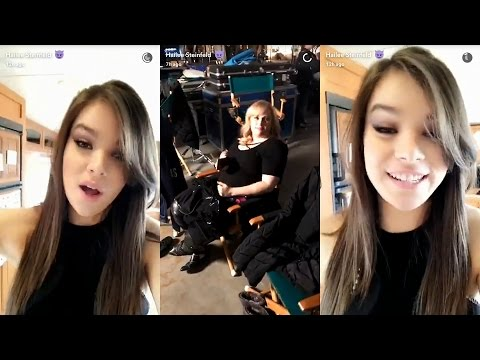 Hailee Steinfeld ► Snapchat Story ◄ 31 March 2017 w/ Rebel Wilson on Pitch Perfect 3 Set