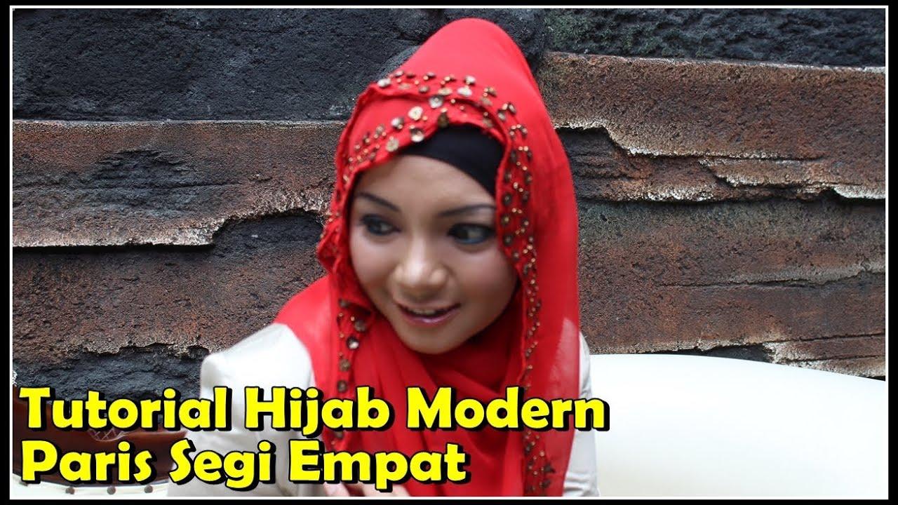 Tutorial Hijab Modern Paris Segi Empat Modis By Revi YouTube