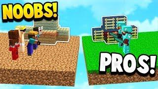 TWO PRO'S VS NOOBS! - Minecraft BEDWARS with PrestonPlayz