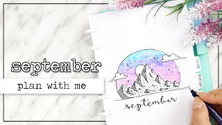 plan with me   september how to get back into bullet journaling