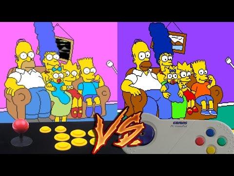 Arcade Vs PC - The Simpsons Arcade Game