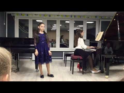 Бетховен «Лунная соната» игр. Нарине, Стихотворение Марины Петросян «Февраль» читает Диана