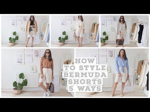 HOW TO STYLE BERMUDA SHORTS 5 WAYS | VILMA MARTINS