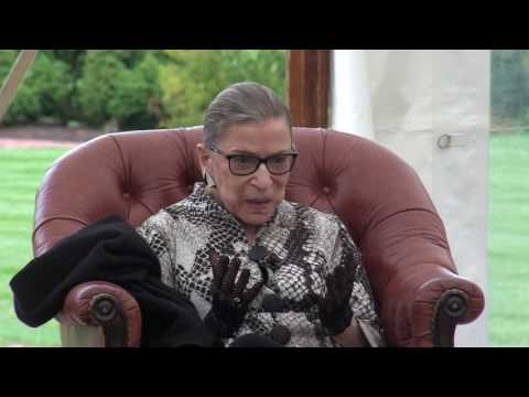 Wye fellow Discussions with Justice Ruth Bader Ginsburg
