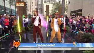Ylvis The Fox live from Plaza New York Today - HD