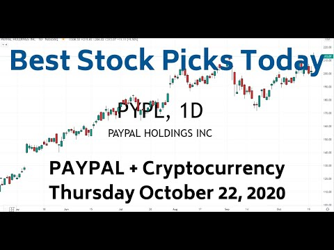 PYPL PayPal Cryptocurrency | Best Stock Picks Today 10-22-20