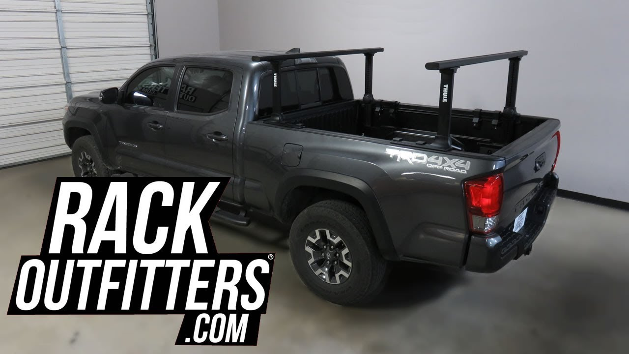 Toyota Tacoma Roof Rack Double Cab >> 3rd Gen Toyota Tacoma Double Cab with Thule 500XTB Xsporter Pro Pick Up Truck Ladder Rack - YouTube