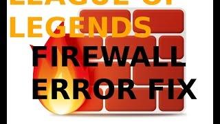 League of Legends FIX Firewall Error/Black Screen After Champion Select Bug/Disconnect Error