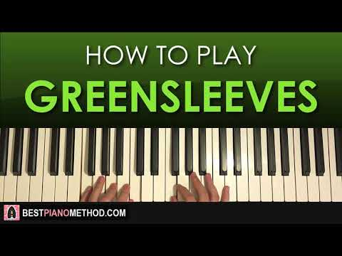 HOW TO PLAY  Greensleeves Piano Tutorial Lesson