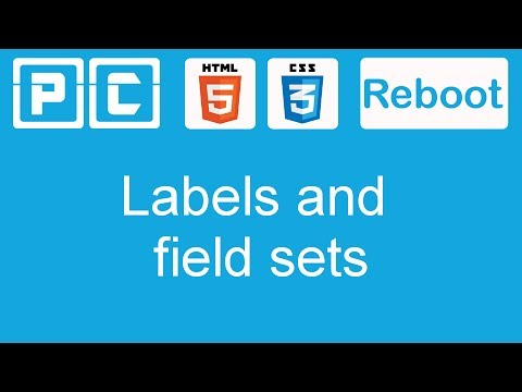 HTML5 And CSS3 Beginners Tutorial 50 - Labels And Fieldsets