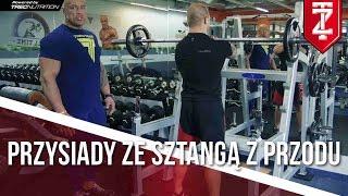Przysiady ze sztangą z przodu - ĆWICZENIA NOGI   Podstawy dla początkujących   M.Karmowski