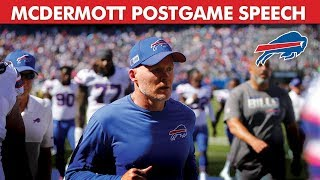 Coach McDermott's WIN Speech for the Buffalo Bills